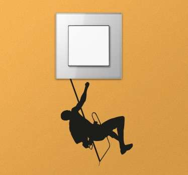 Switch decal designed to convert the plugs and switches in your home into something creative and original. A monochrome sticker perfect for lovers of mountain climbing who want to decorate any room in their home with a small item based on their hobby.