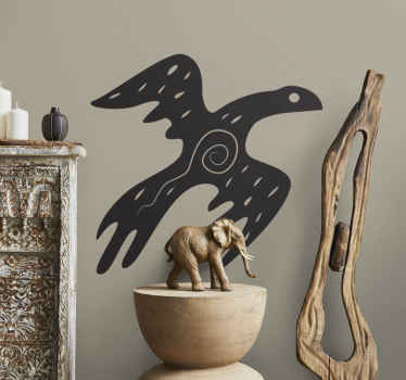 Wall Stickers - Silhouette illustration of a bird with an african style. Available in 50 colours and in various sizes.