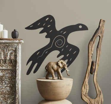 Sticker decorativo uccello tribale