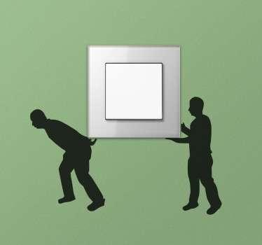 Moving Men Switch Sticker