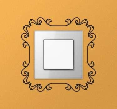 Dekorative ramme bryter klistremerke