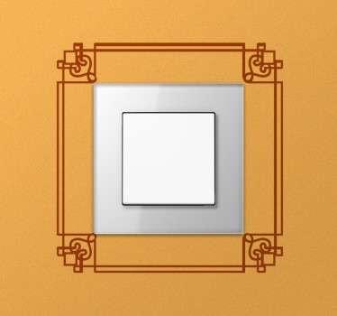 Autocolante para interruptores elegante