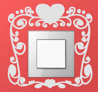 Elegant and romantic switch decal to create a unique atmosphere at home.