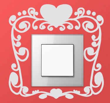 Valentijns sticker Lichtschakelaars Meisjes