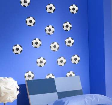 Lot stickers muraux ballons de foot