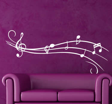 Are you a musician? Do you play an instrument? Decorate your home with this musical wall sticker and obtain the atmosphere desired!