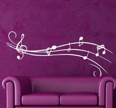 наклейки музыкальных нот
