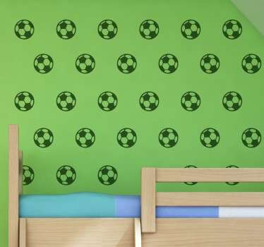 Adesivo decorativo bolas de futebol