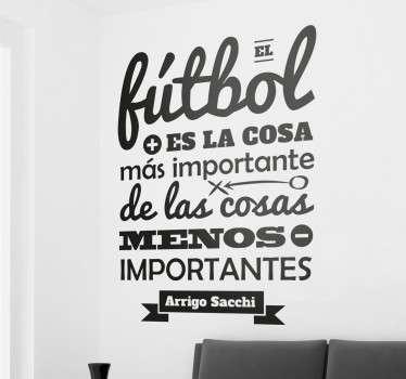 Vinilos para pared inspirados en frases célebres de entrenadores y jugadores famosos.