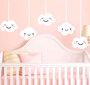 Decorative design illustrating a huge windy cloud from our brilliant collection of cloud wall stickers to decorate any room at home.