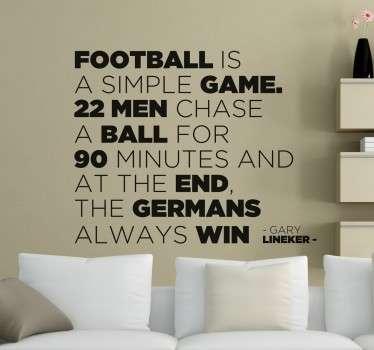Naklejka Napisy co to jest piłka nożna