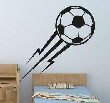 Fußball mit Blitzen Wandtattoo