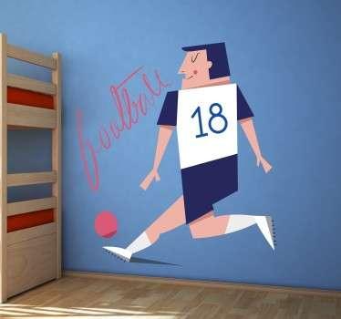 Vinilo ilustración infantil futbolista