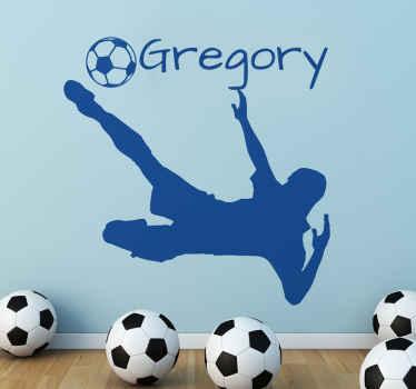 Sticker decorativo jogador futebol personalizável