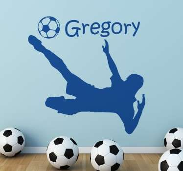 Tilpassbar fotballspiller dekorativ vinyl