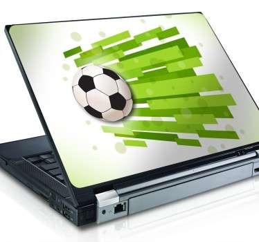 Fodbold computer klistermærke