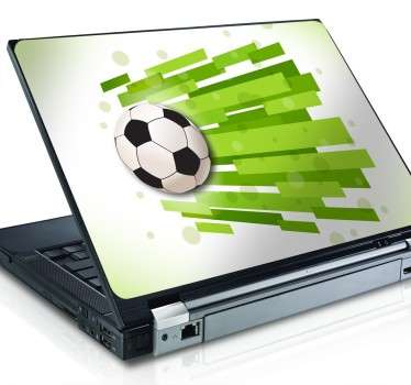 Footballing Texture Laptop Sticker