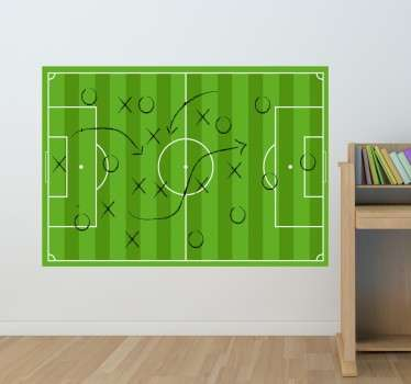 Football whiteboard sticker, perfect for all football fans or those aspiring to be a coach. Now you can draw and erase your strategy in a clean way