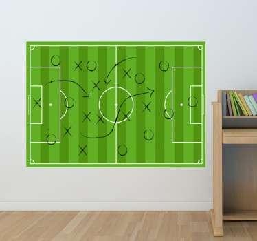Fotballbane hvitt bordet klistremerke