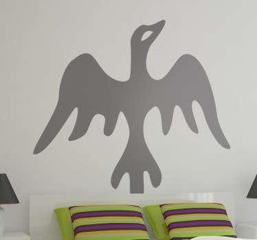 Adhesivo decorativo ave étnica