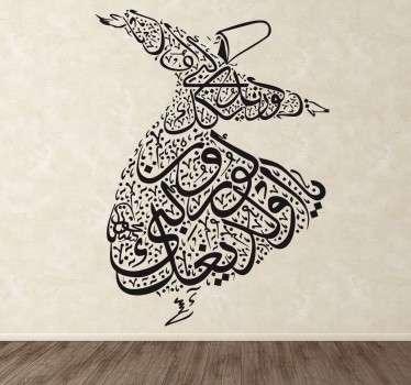 Naklejka dekoracyjna tancerz Mevlana