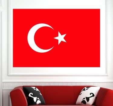 Originele Turkse vlag muursticker