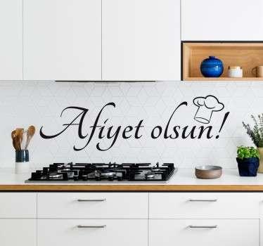 Wandtattoo Guten Appettit Türkisch