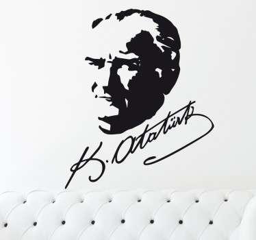 Wandtattoo K. Ataturk