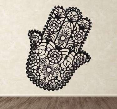 Wandtattoo florale Hand der Fatima