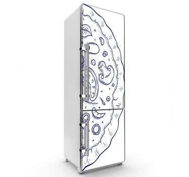 Kühlschrank Sticker Pizza