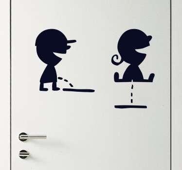 Vinil decorativo sinais WC meninos
