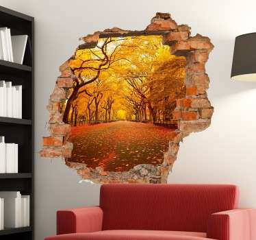 レンガの壁の穴のカスタムステッカー