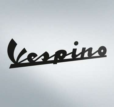Text Sticker Logo Vespino