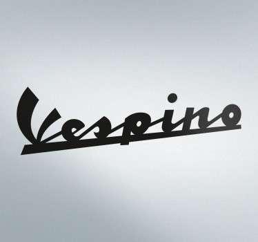 Text Sticker Logo Vespino