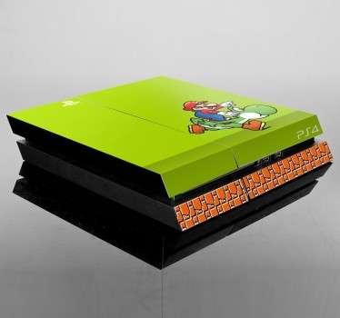 Vinilo para PS4 Yoshi y Mario