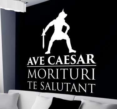Autocolante decorativo Avé César