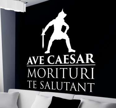 Sticker  decorativo Ave Caesar
