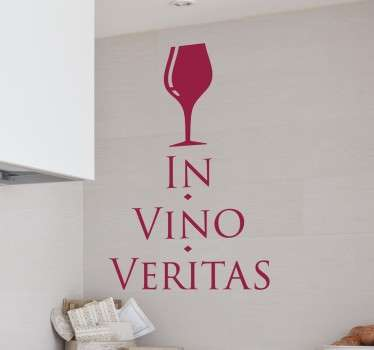 In Vino Veritas Latin Text Sticker