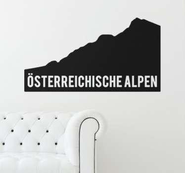 Wandtattoo Österreichische Alpen