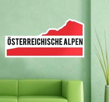 Dekoratives Wandtattoo für alle Österreicher und Österreich Fans. Personalisieren Sie Ihr Auto, Ihre Geräte und vieles mehr.