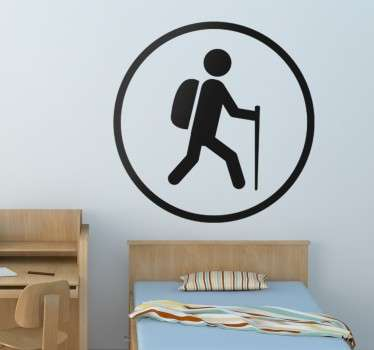Hiking Sign Wall Sticker
