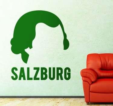 Wandtattoo Silouhette Mozart Salzburg