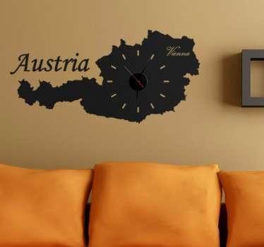 Vinil decorativo relógio silhueta Áustria