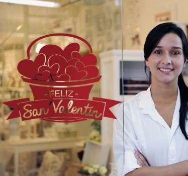 Vinilos baratos para tiendas con los que podrás promocionar la próxima campaña de San Valentín.