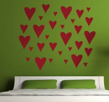 Vinil decorativo corações
