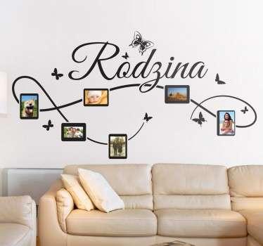 Naklejka dekoracyjna Rodzina ze zdjęciami