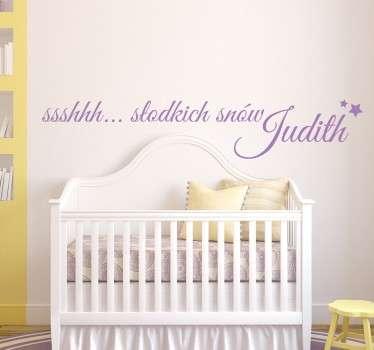 Naklejka z napisem słodkich snów