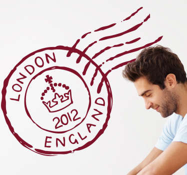 Decals - Inspired by the city of London. A postal mark illustration with the 2012 diamond jubilee symbol.