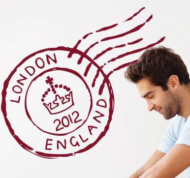 Sticker tampon postal Londres