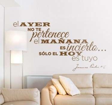 Vinilo decorativo frase Papa Juan Pablo